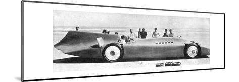 Sir Malcom Campbell (1885-194) in Bluebird, Daytona Beach, Florida, 7th March 1935 193)--Mounted Giclee Print