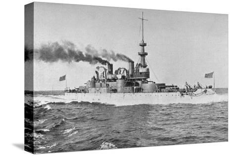 Uss 'Indiana, American Battleship, 1898-W Rau-Stretched Canvas Print