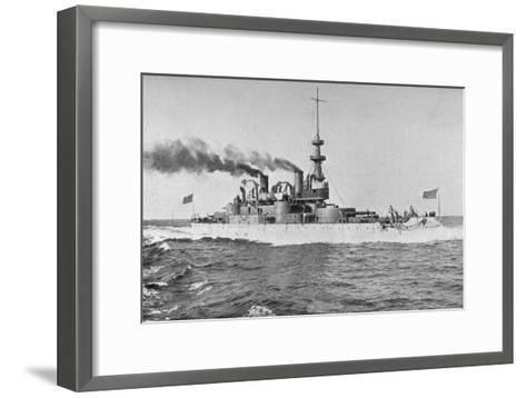 Uss 'Indiana, American Battleship, 1898-W Rau-Framed Art Print