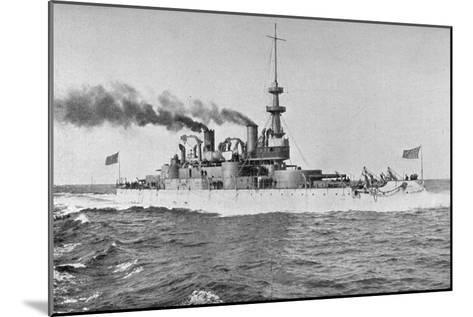 Uss 'Indiana, American Battleship, 1898-W Rau-Mounted Giclee Print