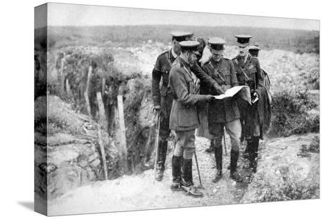 King George V (1865-193) at St George's Hill, Near Fricourt, 10th August 1916--Stretched Canvas Print