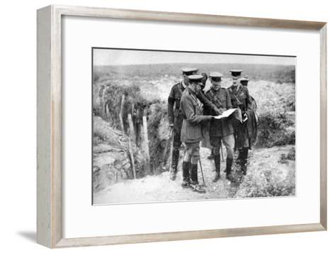 King George V (1865-193) at St George's Hill, Near Fricourt, 10th August 1916--Framed Art Print