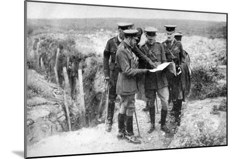 King George V (1865-193) at St George's Hill, Near Fricourt, 10th August 1916--Mounted Giclee Print