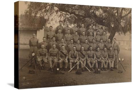 The Battalion Signallers of the First Battalion, the Queen's Own Royal West Kent Regiment--Stretched Canvas Print