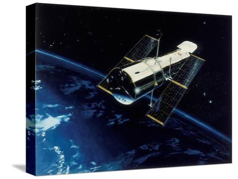 Hubble Space Telescope in Orbit, 1980S--Stretched Canvas Print