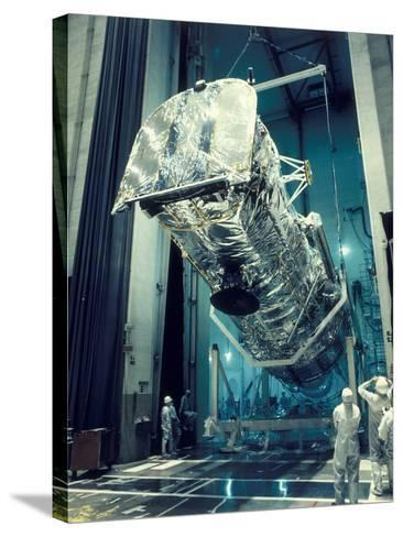Testing the Hubble Space Telescope , 1980s--Stretched Canvas Print