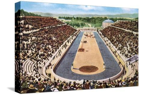 Olympic Stadium, Athens, 1906--Stretched Canvas Print