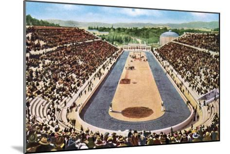 Olympic Stadium, Athens, 1906--Mounted Giclee Print