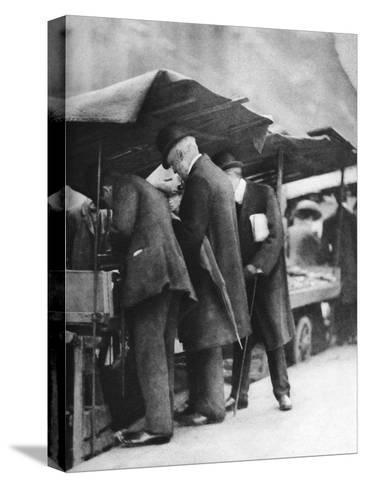 Bookstalls of the Farringdon Road Market, London, 1926-1927-Walter Benington-Stretched Canvas Print