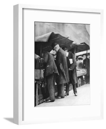 Bookstalls of the Farringdon Road Market, London, 1926-1927-Walter Benington-Framed Art Print