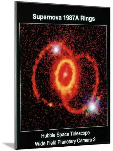 Remnant of Supernova 1987A--Mounted Giclee Print