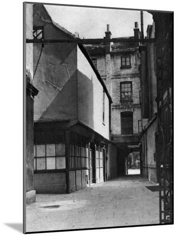 Calvert's Buildings, with a Courtyard Typical of the Old Borough High Street, London, 1926-1927- Whiffin-Mounted Giclee Print