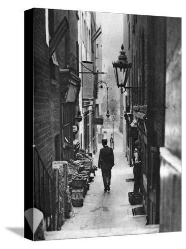 George Court (An Alleyway Leading to the Adelphi Theatre from the Stran), London, 1926-1927- Whiffin-Stretched Canvas Print
