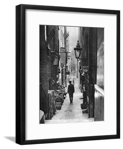 George Court (An Alleyway Leading to the Adelphi Theatre from the Stran), London, 1926-1927- Whiffin-Framed Art Print