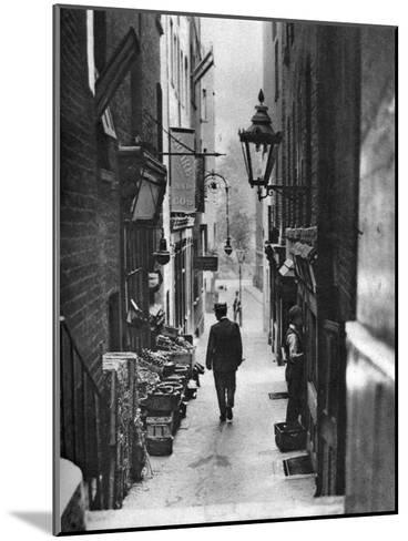 George Court (An Alleyway Leading to the Adelphi Theatre from the Stran), London, 1926-1927- Whiffin-Mounted Giclee Print