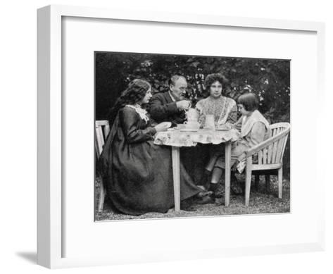 Emile Zola, French Novelist, with His Family, 1899--Framed Art Print