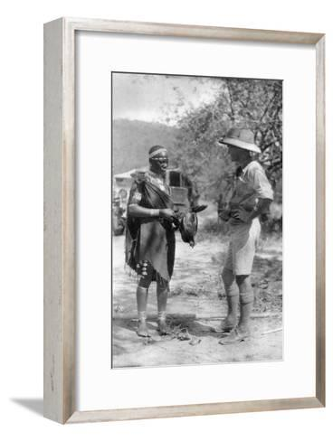 Errol Hinds Making a Deal in Chickens, Wankie to Victoria Falls, Southern Rhodesia, 1925-Thomas A Glover-Framed Art Print