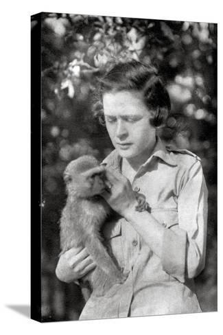 Stella Court Treatt and Her Monkey Kima, Dodoma to Mongalla, East Africa, 1925-Thomas A Glover-Stretched Canvas Print