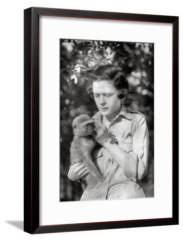 Stella Court Treatt and Her Monkey Kima, Dodoma to Mongalla, East Africa, 1925-Thomas A Glover-Framed Art Print