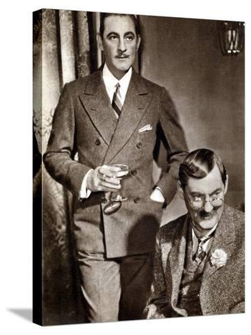 John (1882-194) and Lionel (1878-195) Barrymore, American Stage and Screen Actors--Stretched Canvas Print