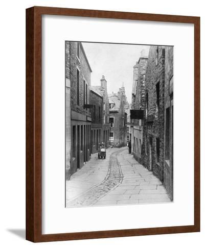 A Street in Stromness, Orkney, Scotland, 1924-1926-Thomas Kent-Framed Art Print