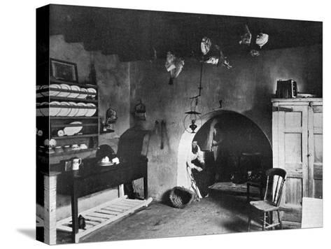 A Farm Kitchen, Orkney, Scotland, 1924-1926-Thomas Kent-Stretched Canvas Print