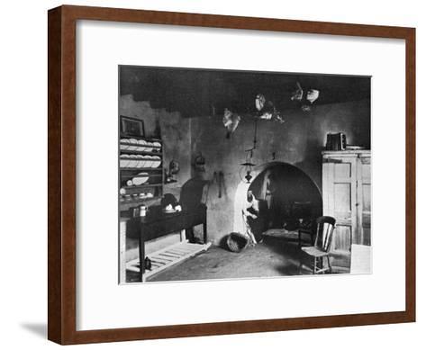 A Farm Kitchen, Orkney, Scotland, 1924-1926-Thomas Kent-Framed Art Print