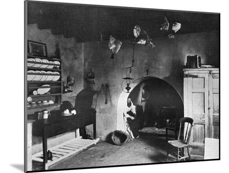 A Farm Kitchen, Orkney, Scotland, 1924-1926-Thomas Kent-Mounted Giclee Print