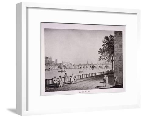Westminster Bridge, London, C1925-Thomas Malton II-Framed Art Print