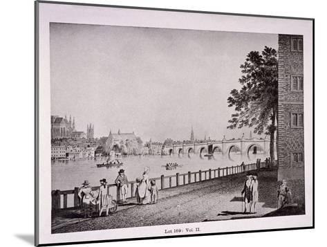 Westminster Bridge, London, C1925-Thomas Malton II-Mounted Giclee Print