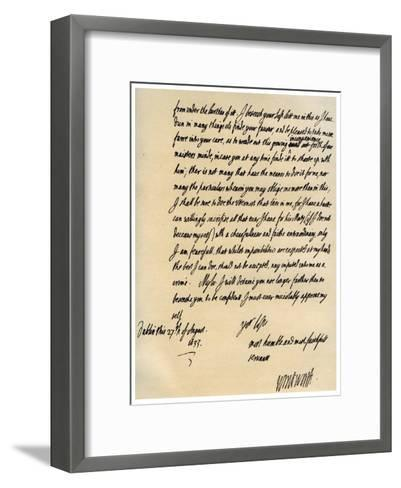 Letter from Viscount Thomas Wentworth to James Hay, 27th August 1633-Thomas Wentworth-Framed Art Print