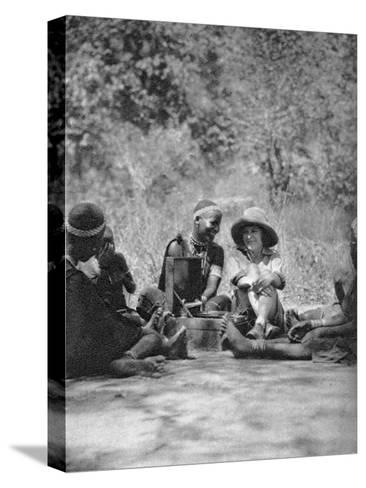 Listening to the Gramophone, Bulawayo to Dett, Rhodesia, C1924-C1925-Thomas A Glover-Stretched Canvas Print
