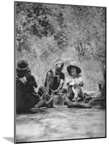 Listening to the Gramophone, Bulawayo to Dett, Rhodesia, C1924-C1925-Thomas A Glover-Mounted Giclee Print