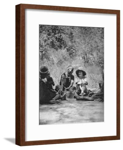 Listening to the Gramophone, Bulawayo to Dett, Rhodesia, C1924-C1925-Thomas A Glover-Framed Art Print