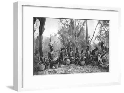 Native Women with Baskets of Hippo Meat, Karoo, South Africa, 1924-Thomas A Glover-Framed Art Print