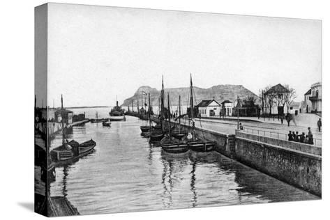 The Rock of Gibraltar from Algeciras, Spain, Early 20th Century-VB Cumbo-Stretched Canvas Print