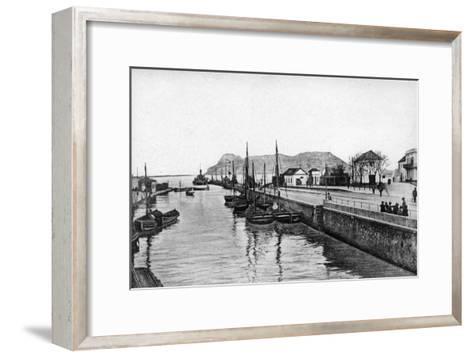 The Rock of Gibraltar from Algeciras, Spain, Early 20th Century-VB Cumbo-Framed Art Print