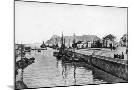 The Rock of Gibraltar from Algeciras, Spain, Early 20th Century-VB Cumbo-Mounted Giclee Print