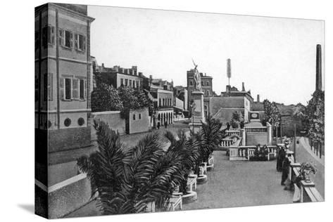 Line Wall Boulevard, Gibraltar, Early 20th Century-VB Cumbo-Stretched Canvas Print