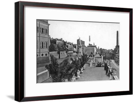 Line Wall Boulevard, Gibraltar, Early 20th Century-VB Cumbo-Framed Art Print