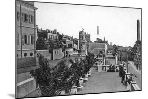 Line Wall Boulevard, Gibraltar, Early 20th Century-VB Cumbo-Mounted Giclee Print
