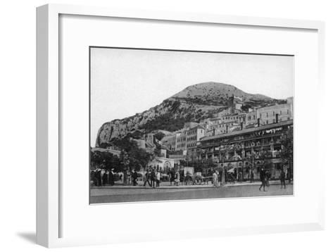 Casemates Square, Gibraltar, Early 20th Century-VB Cumbo-Framed Art Print
