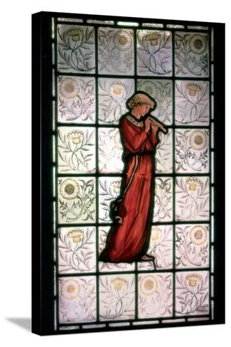 Stained Glass, Minstrel, 1882-1884-William Morris-Stretched Canvas Print