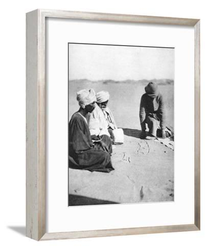 Mapping in the Sand, Halfa to Shellal, Egypt, 1926-Thomas A Glover-Framed Art Print