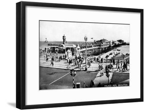 Palace Pier, Brighton, Sussex, Early 20th Century--Framed Art Print