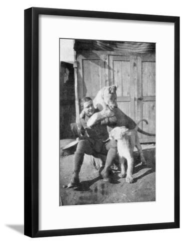 Raoul Lufbery, French-American Fighter Pilot and Flying Ace of World War I, 1917--Framed Art Print