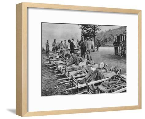 Austrian Soldiers on the Way to Hospital, Battle of the Isonzo, World War I, 1915--Framed Art Print