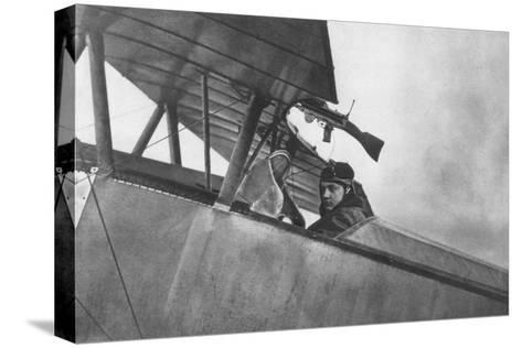Georges Guynemer, French Fighter Ace, C1916--Stretched Canvas Print