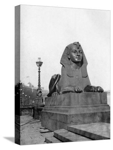 One of the Sphinxes, Victoria Embankment, London, 1924-1926--Stretched Canvas Print