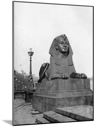 One of the Sphinxes, Victoria Embankment, London, 1924-1926--Mounted Giclee Print